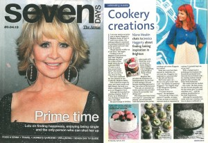 Cookery Creations Article in Brighton Argus