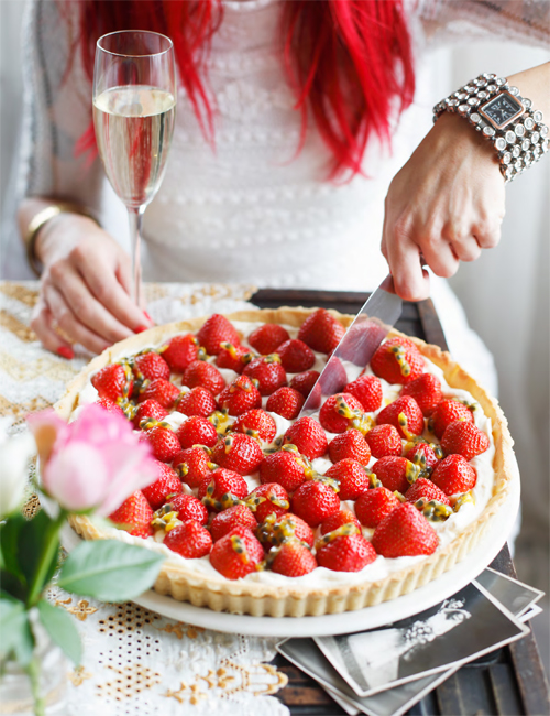 Brighton Bakes Strawberry Tart